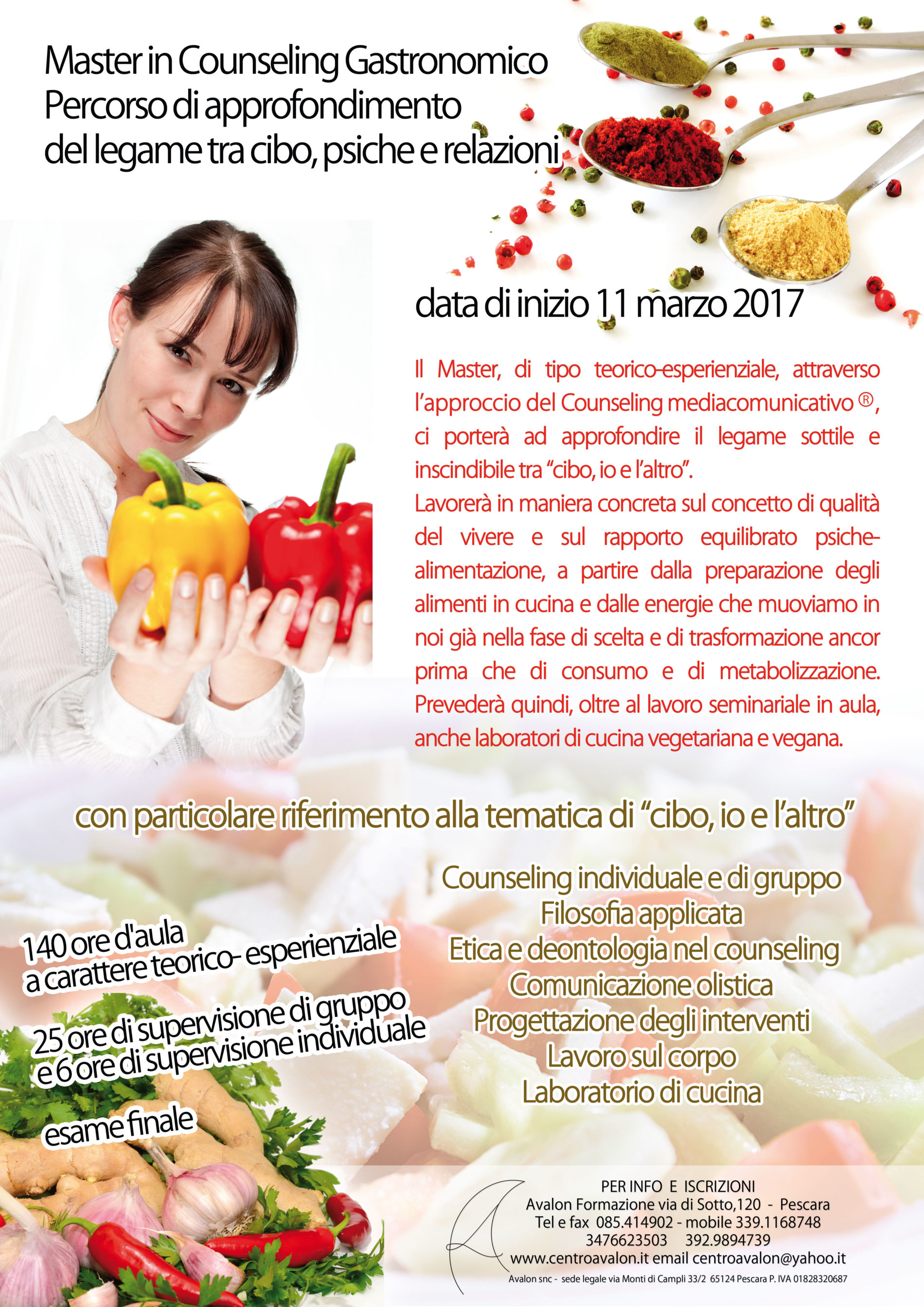 Aperte le iscrizioni al Master in counseling gastronomico inizio master 11 marzo 2017
