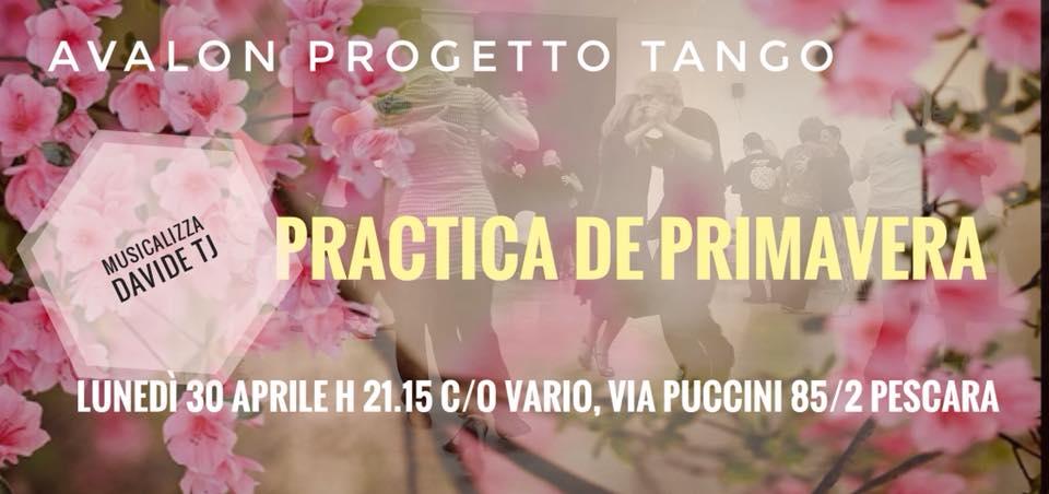 Avalon Progetto Tango - Practica De Primavera - 30 aprile 2018