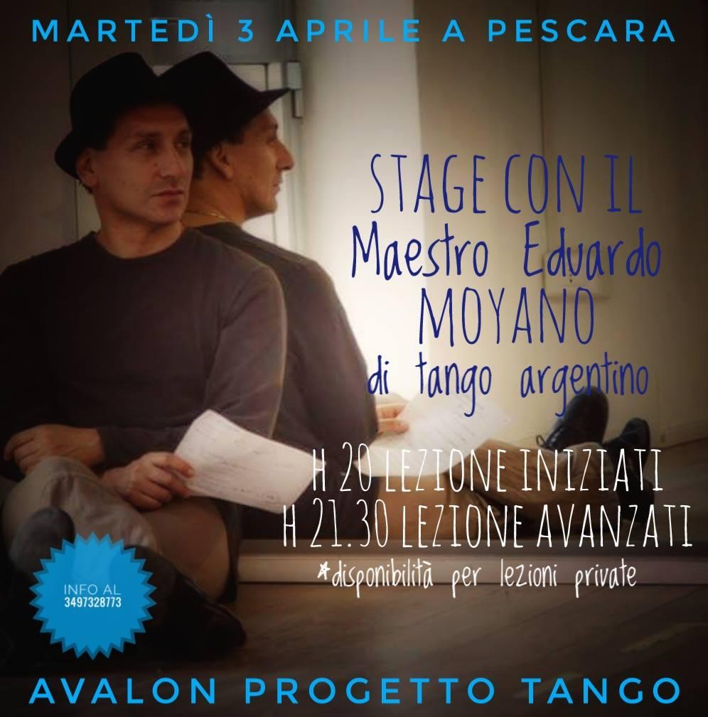 stage di tango argentino del Maestro Eduardo Moyano - Avalon progetto Tango Pescara