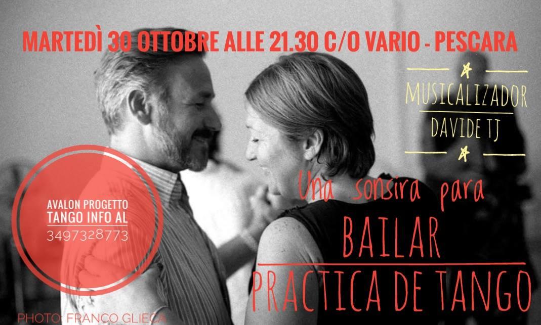 Una sonrisa para bailar. Practica de tango - Avalon progetto Tango Pescara